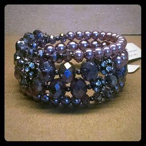 Jewelry - Elegant beaded rhinestones wrap bracelet
